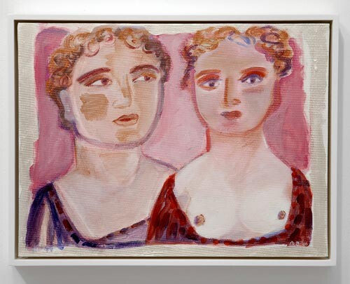 Angela Brennan Double portrait, 2006; acrylic on canvas board; 30.5 x 40.5cm (unframed), 33 x 43cm (framed); enquire