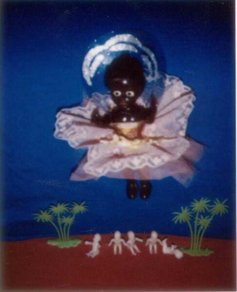 Destiny Deacon Waiting For Goddess B, 1993-03; Light jet print from Polaroid original; 75 x 62 cm; 60 x 48 cm (image size); Edition of 15 + 2 APs; enquire