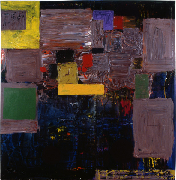 Dale Frank Boogie Woogie Queensland, 1991; acrylic on linen; 160 x 160 cm; enquire