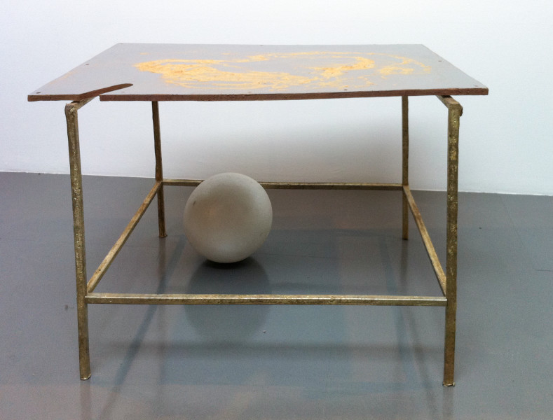 Hany Armanious Happiness, 2010; cast pigmented polyurethane resin and pewter with pigment; 70 x 109.5 x 73.5 cm; enquire