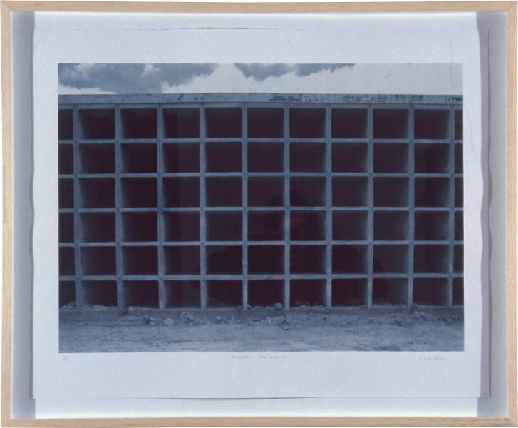 Rachel Whiteread Mausoleum under Construction (after a photograph by Camilo José Vergara), 1992; four colour screen print with mezzotint screens; paper size 71 x 88 cm; image size 55.6 x 79 cm; Edition of 65; enquire