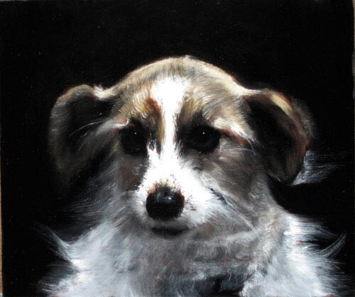 Louise Hearman Untitled #1157, 2005; oil on masonite; 30 x 36 cm; enquire