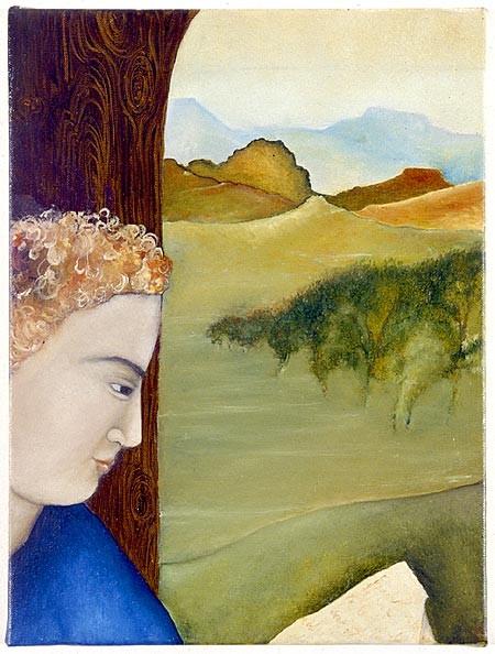 Vivienne Shark LeWitt Man with a Letter, 1986; oil on linen; 40.8 x 30.6 cm; enquire