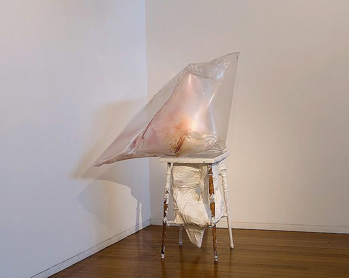 Mikala Dwyer Empty Sculpture, 2003; plastic, plaster, wood, paint; 144.5 x 143 x 83 cm; enquire