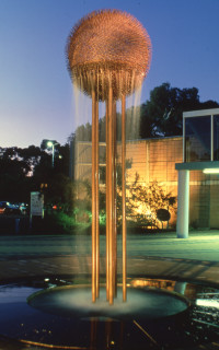 Bronwyn Oliver Seed, 1997; Copper; 120 cm diameter x 330 cm; enquire