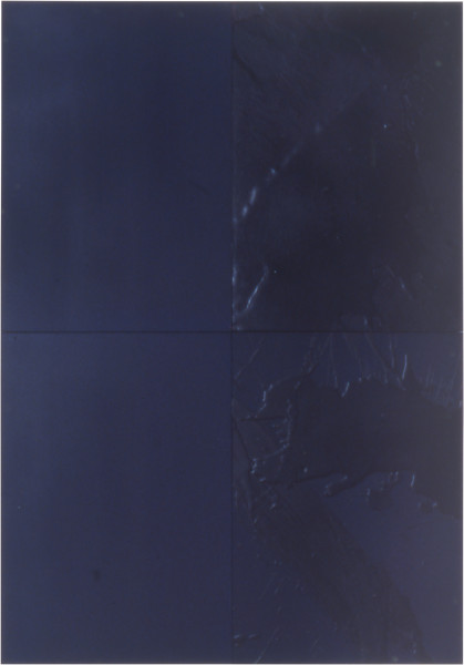 Lindy Lee Eight Negations, 1999; Oil, acrylic, wax and ink on Stonehenge paper on board; 82 x 57 cm; 4 panels; enquire