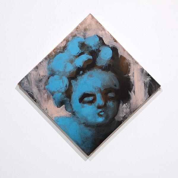 Tony Clark Putto S, 2010; acrylic on canvas; 41.5 x 41.5 cm; enquire