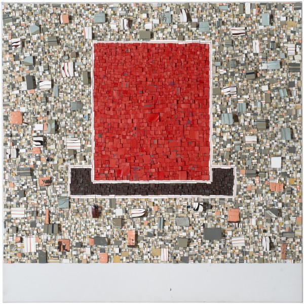 Rohan Wealleans City of Rose Boogie Woogie, 2014; paint on canvas; 100 x 100 x 7 cm; enquire