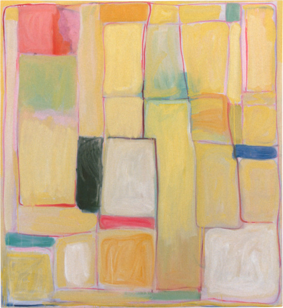 Angela Brennan Yellow Painting, 1997; oil on canvas; 183 x 167.5 cm; enquire