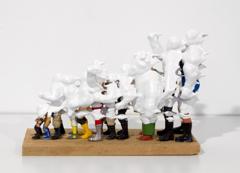 Teppei Kaneuji White Discharge (11 Figures), 2011; found objects, resin, glue; 16 x 9 x 25 cm; enquire