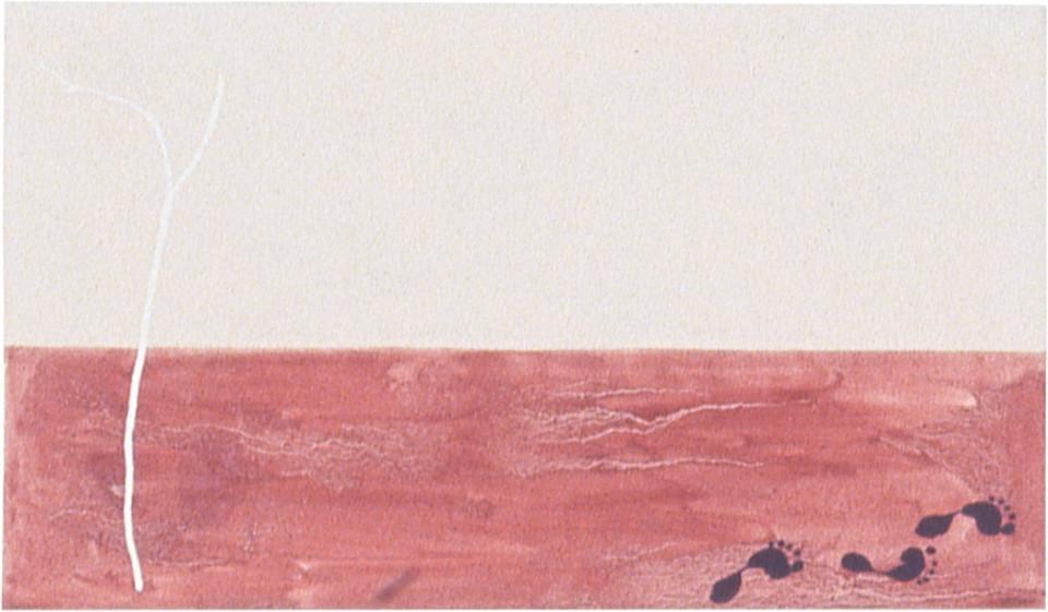 Fiona Foley Desert Horizon, 1998; oil on canvas; 35 x 60 cm; enquire