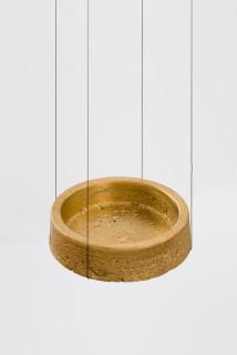 installation view; Marley Dawson Ashtray, 2021; cast brass (square lip); 3.5 x 11 x 11 cm; enquire