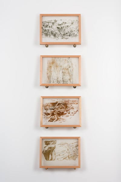 John Wolseley Longicorn Beetle engravings, 2019; relief print found wood on Japanese tissue; 30.5 x 40.5 cm each; enquire