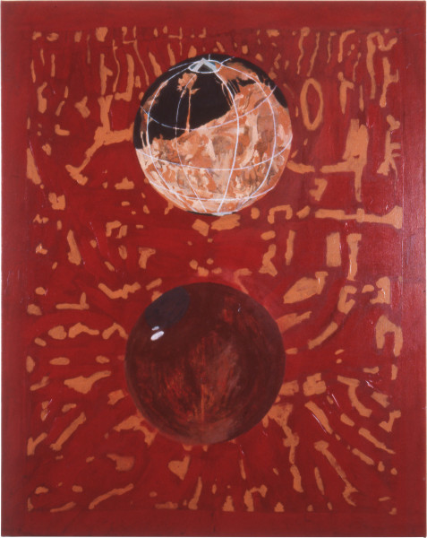 Geoff Lowe Face III, 1987; synthetic polymer paint and oil on canvas; 152 x 122 cm; enquire
