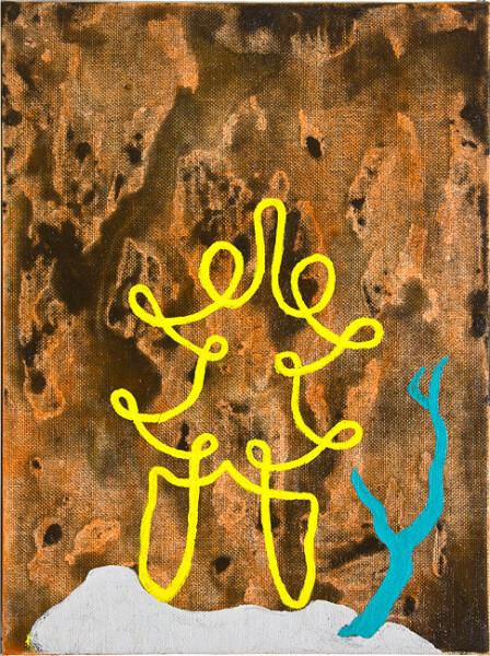 Tony Clark Chinoiserie Landscape, 1988; oil on canvas board; 30.5 x 22.8 cm; enquire