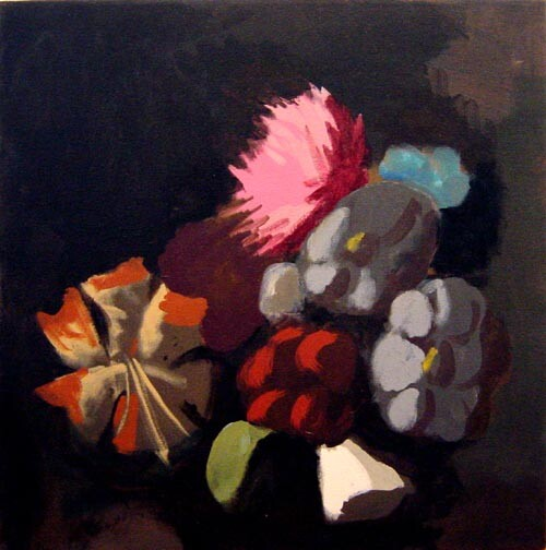Tony Clark Floral Design with Tiger Lily, 2002; Acrylic on canvas; 51 x 51 cm; enquire