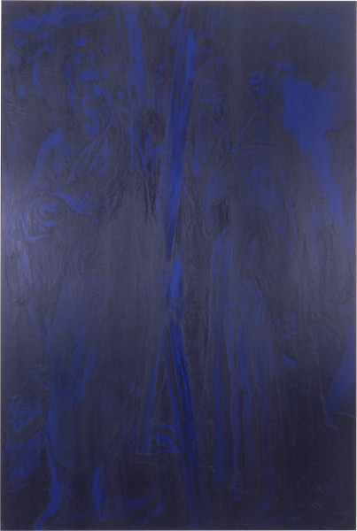 Lindy Lee How Appearance Becomes Being, 1989; oils and wax on canvas; 201 x 135 cm; enquire