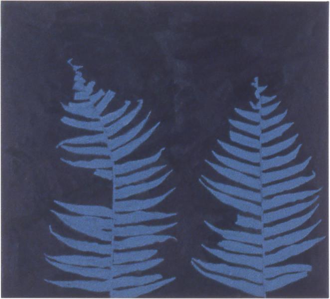 Fiona Foley Bungwul Fern, 1998; oil on canvas; 36 x 39.5 cm; enquire