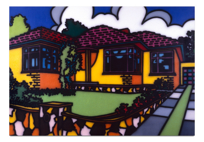 Howard Arkley Triple Fronted, 1987; Acrylic paint on canvas; 168 x 239 cm; enquire