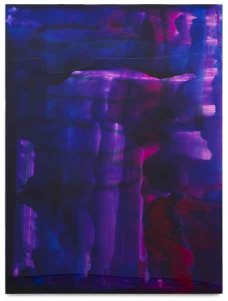 Dale Frank https://www.youtube.com/channel/UCBjMl41n8JiYywxr25QJQjQ/videos, 2018; varnish and epoxyglass on perspex; 200 x 150 cm; Enquire