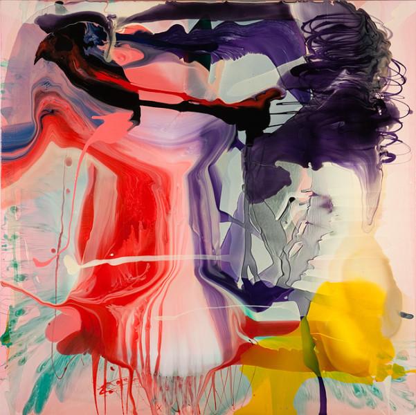 Dale Frank Ceratonia Siliqua Bold Atom, 2011; varnish on canvas; 200 x 200 cm; enquire