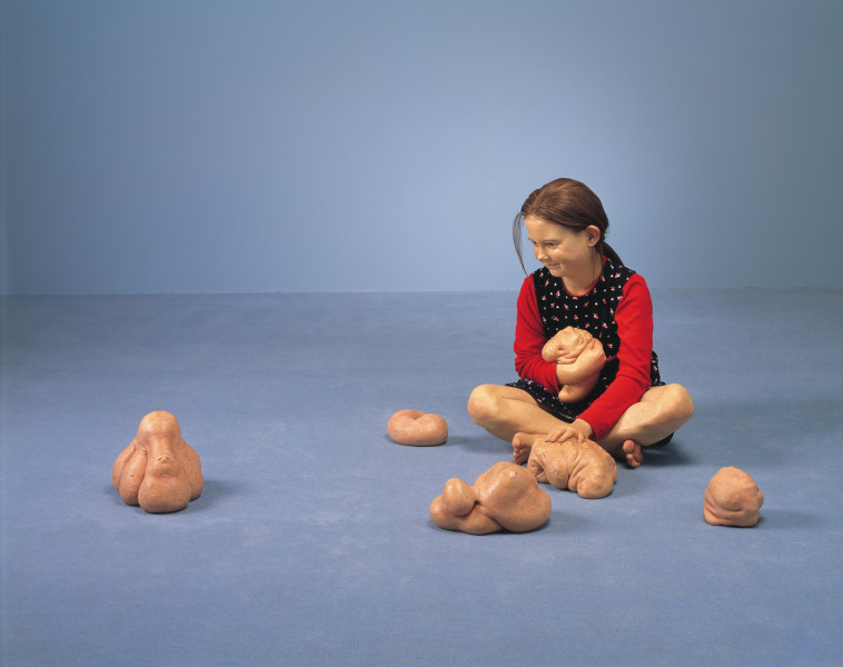 Patricia Piccinini Still Life With Stem Cells, 2002; silicone, polyurethane, clothing, human hair; variable; enquire