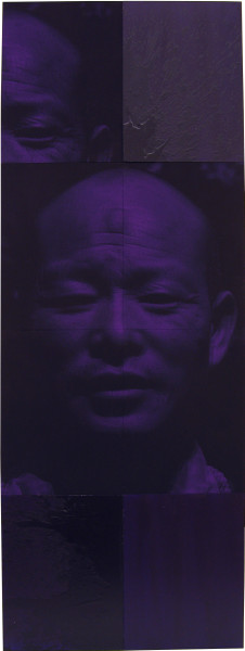 Lindy Lee Chu-chi, 2004; wax, acrylic and pigmented ink on archival paper on board; 8 panels, 160 x 60 cm; enquire