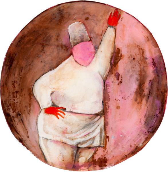 Hossein Ghaemi Hey beyonce fill me in about the divine, 2009; liquid glass, paper, boxboard, gouache, pencil, chalkboard paint, fine grains of pistachio nut; 36 x 35 cm; enquire