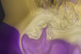 Dale Frank Peter Sykes and Peter Wilkinson (1975) (detail), 2021; Interference colour pigment in Epoxyglass, on Perspex; 200 x 200 cm; enquire