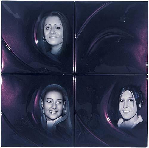 Patricia Piccinini LUVR99, 2002; ABS plastic and automotive paint; 100 x 100 x 5 cm; 4 panels; enquire