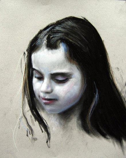 Louise Hearman Untitled #1065, 2005; pastel on coloured paper; 32 x 26 cm; enquire