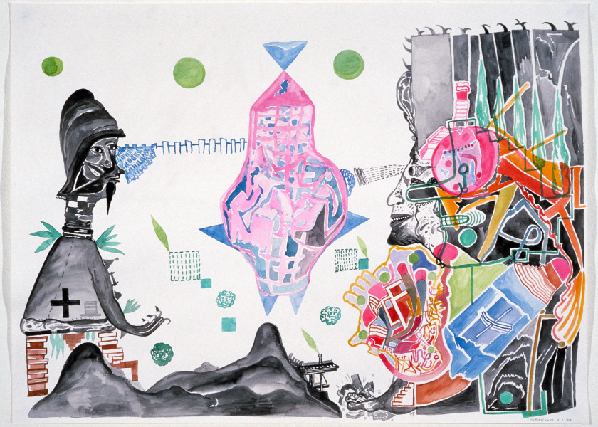 Gareth Sansom Indian Time, 1989; watercolour on paper; 56 x 76 cm; enquire