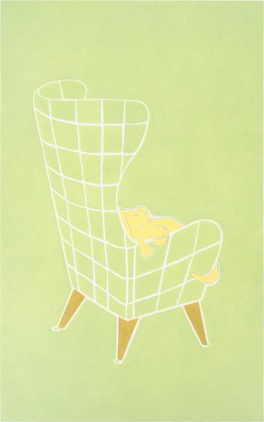 Vivienne Shark LeWitt Dog day: afternoon (2.30 pm), 1995; oil on linen; 137 x 86 cm; enquire