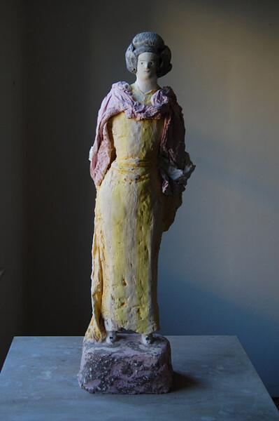 Linda Marrinon Joan Sutherland, 2012; painted plaster; 74 x 20 cm; enquire