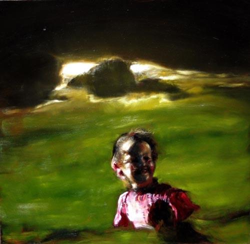 Louise Hearman Untitled #1058, 2005; oil on masonite; 49 x 48 cm; enquire