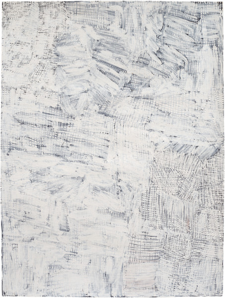 Nyapanyapa Yunupingu Djorra (paper) 10, 2014; TPA115; felt tip pen, earth pigments on discarded print proofs; 75 x 56 cm; Enquire