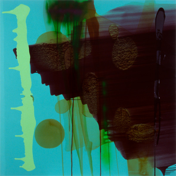 Dale Frank And evening with the forgotten and fabricated brown pisspot, 1999; acrylic and enamel on linen; 200 x 200 cm; enquire