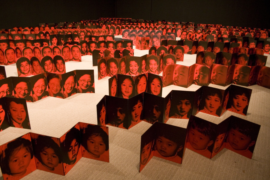 Lindy Lee Birth and Death, 2007; inkjet print and acrylic on Chinese accordion books; installation dimensions variable; enquire