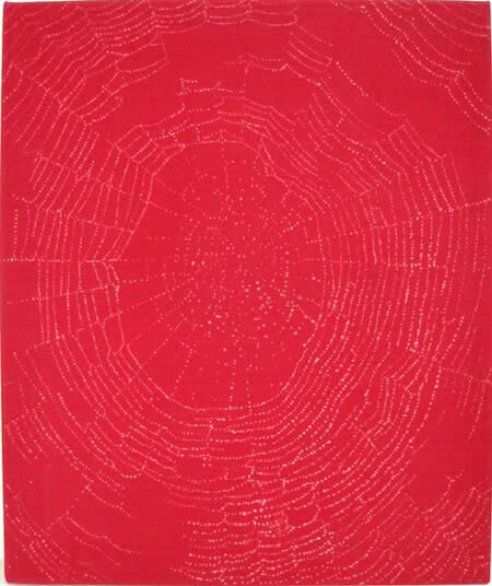 David Noonan Red Web, 2003; bleach on linen; 60 x 50 cm; enquire