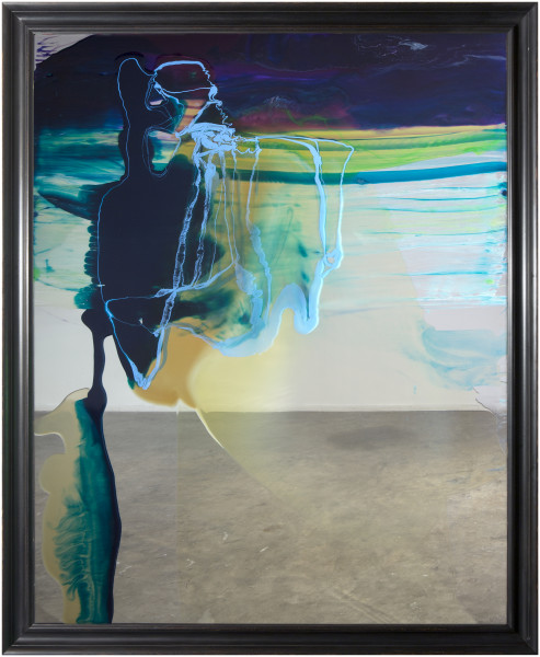 Dale Frank She really wanted one of those Chinese Crested dogs but she'd have to get rid of her boyfriend first, 2014; varnish on 6mm glass; 218.5 x 178.5 x 8 cm; enquire