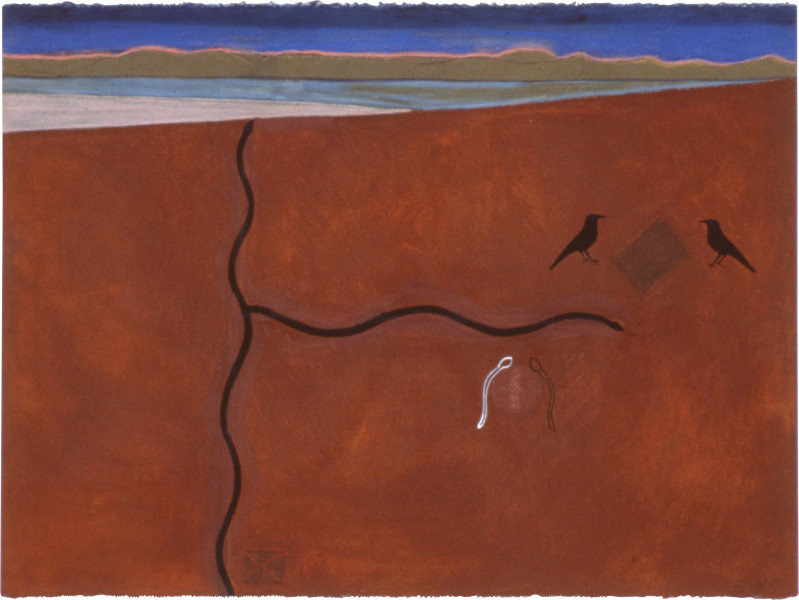 Fiona Foley Forked Paths, 1991; ink, pastel and pencil on paper; 57 x 76.5 cm; enquire