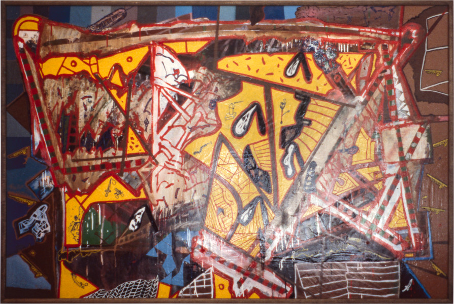 Gareth Sansom Bream, 1981; mixed media on hardboard; 122 x 183 cm; enquire