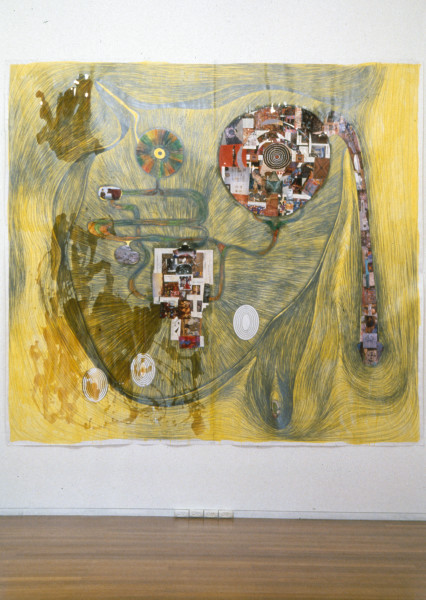 Dale Frank The Critics Bladder (Portrait of Paul Foss), 1992; mixed media on paper; 275 x 297 cm; enquire