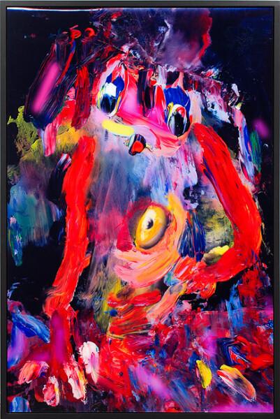 TV Moore Purple Haze Express Yourself, 2012; unique c-print, painted frame; 164.5 x 109 cm; enquire
