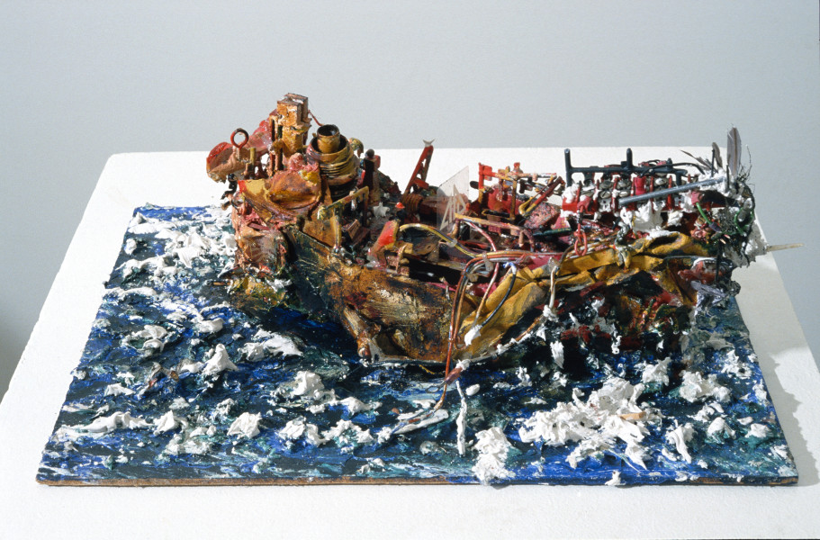 Victor Rubin The Don Juan, 1987; wood, metals, plastic, minerals, oil, acrylic and modelling paste; enquire