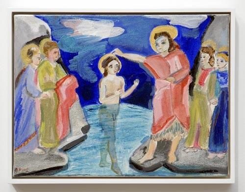 Angela Brennan John the Baptist, 2006; acrylic on canvas board; 30.5 x 40.5cm (unframed), 33 x 43cm (framed); enquire