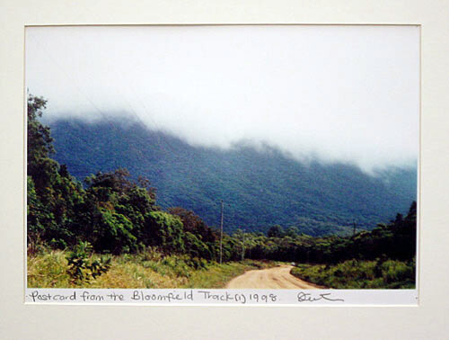 Destiny Deacon Postcard from the Bloomfield Track (1), 1998; colour laser print; 21 x 29.7 cm; Edition of 15; enquire