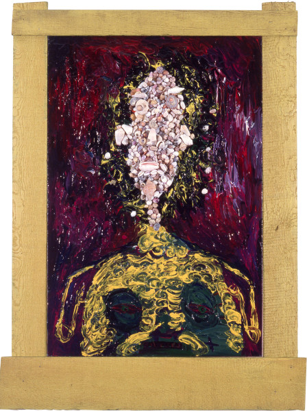 Dale Frank Self portrait as a woman and an artist, 1983; acrylic on canvas; 91 x 61 cm; enquire