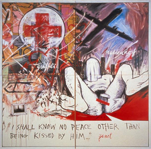 Juan Davila Still Life, 1982; oil on canvas; 137 x 137 cm; enquire