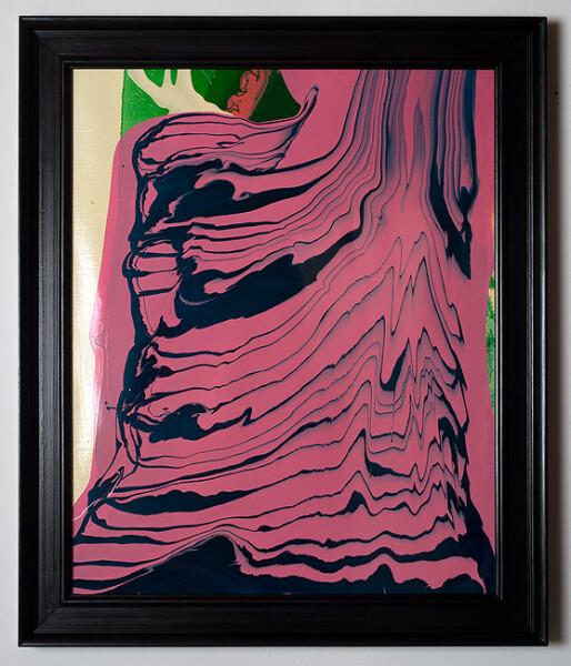 Dale Frank Conservative Institutional Beauty #9, 2012; Varnish on canvas; 87 x 74 cm; (framed); enquire